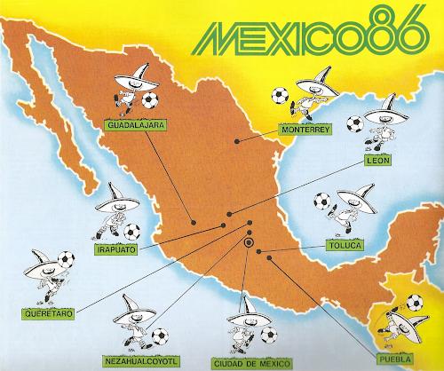La carte Mexico 86