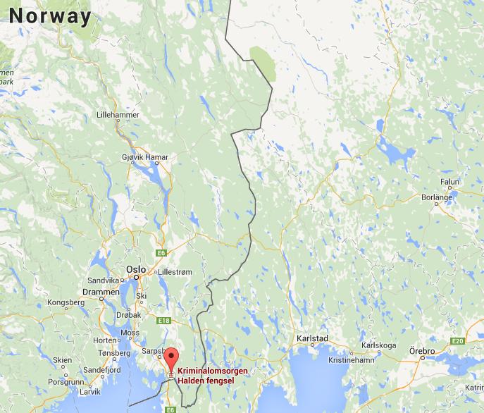 Halden And Bastoy Prison Info The Norwegian Halden And Bastøy - Norway on us map