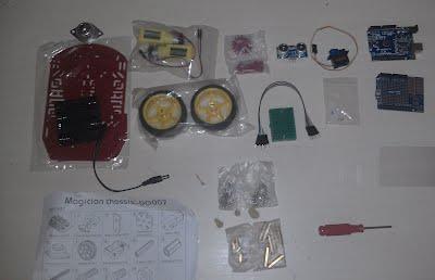 Current Contents of the Oregonstate Robotics Kit