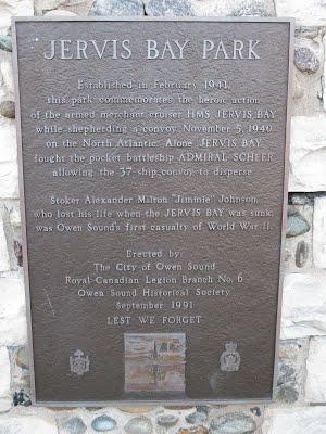 Plaque in Jervis Bay Park