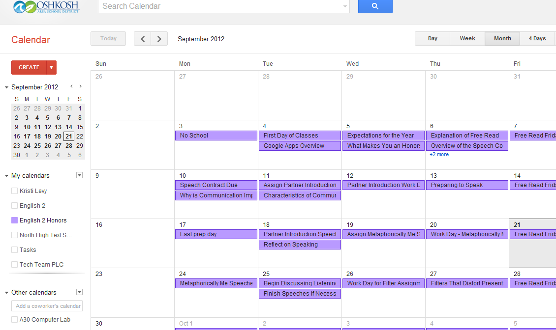 Lesson Planning with Your Google Calendar - West High Technology