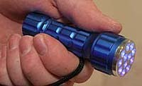 Small Glo Germ Black Light Flashlight
