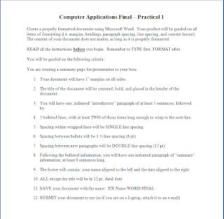 EXAM PRACTICALS - SMS Computer Apps Class