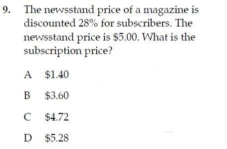 Grade 8 PSSA Question of the Day