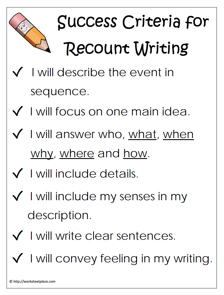 recount writing examples