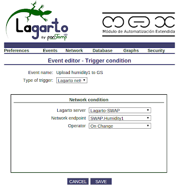 Trigger condition from lagarto-max