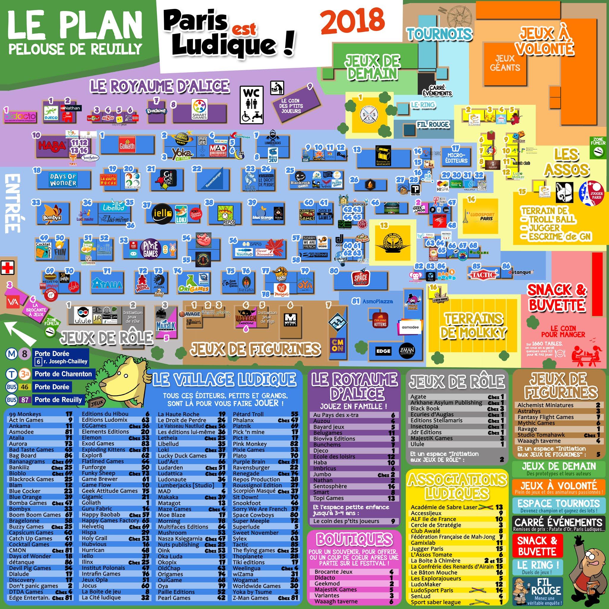 Plan de Paris est Ludique