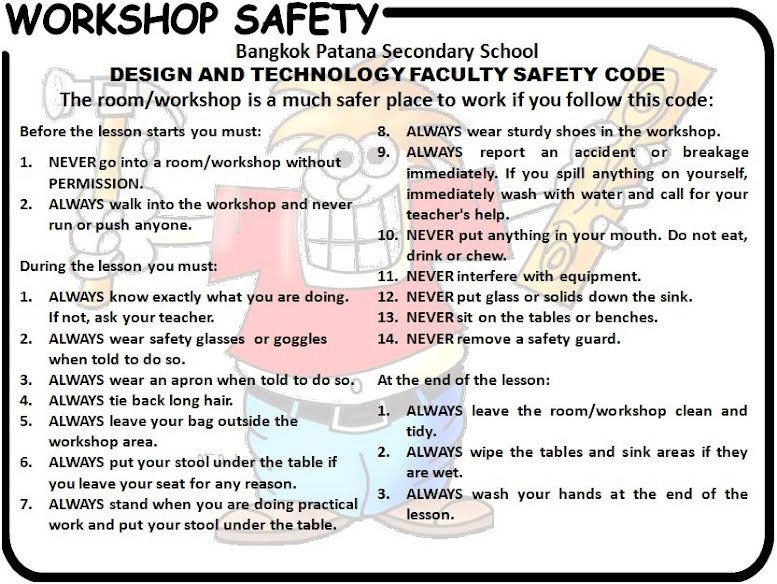 workshop tools and safety precautions When using high performance power tools be sure to consider these safety  precaustions take the appropriate steps to ensure your safety and that of your  crew.