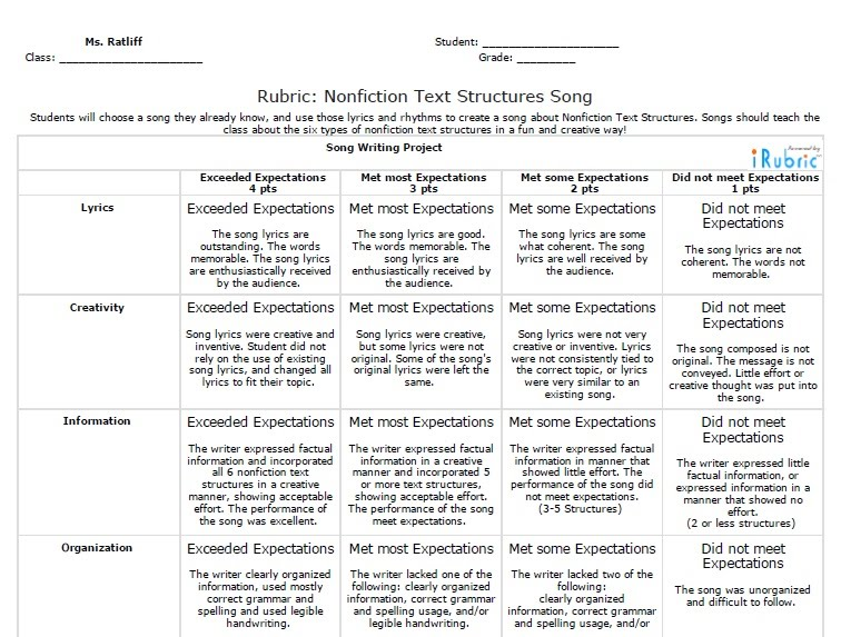 Nonfiction text structures team gordon students will be using their notes on nonfiction text structures similar to the chart below to create songs sciox Gallery