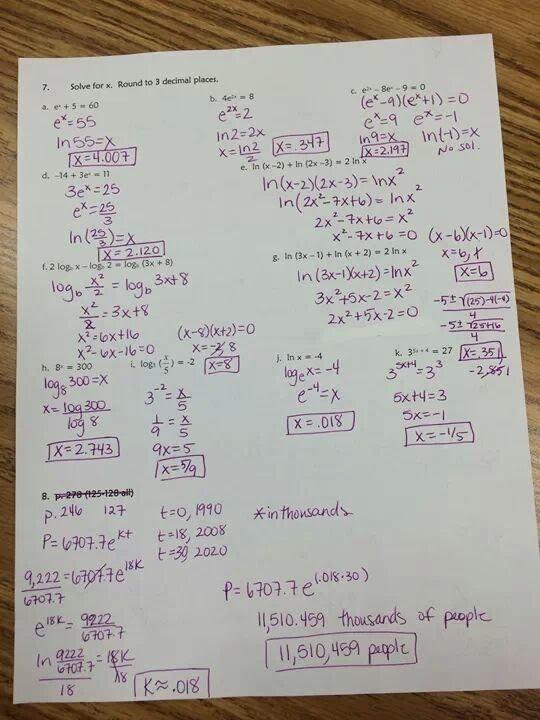 HOMEWORK & ASSIGNMENTS - Algebra 3