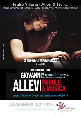 Giovanni Allevi in concerto per Onlus PCDH19