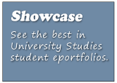 See the best in University Studies student eportfolios.