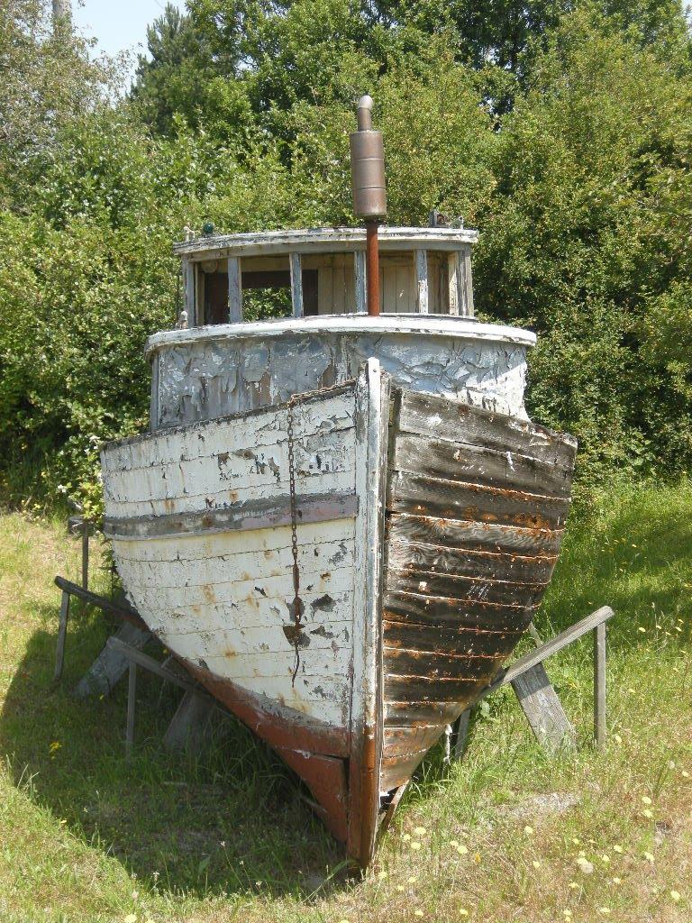 A boat ashore...