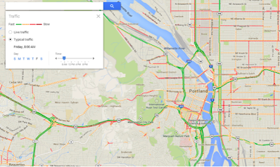 Portland Oregon Traffic Map Park Map