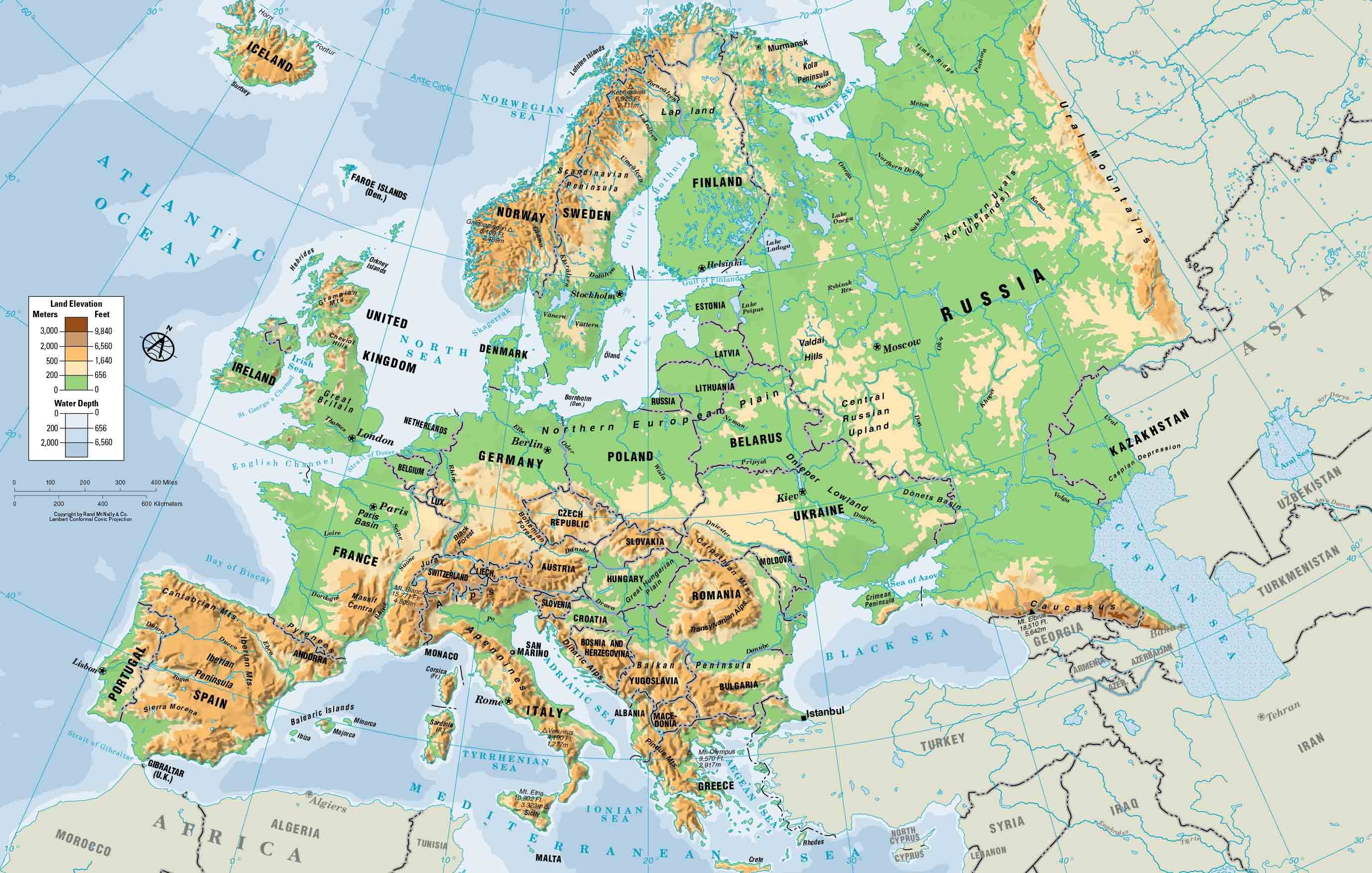 geography map of europe Place   World War I and the Five Themes of Geography