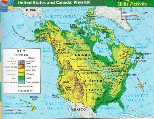 USA Landforms The Regions Of The United States ThingLink - Canada and us physical map