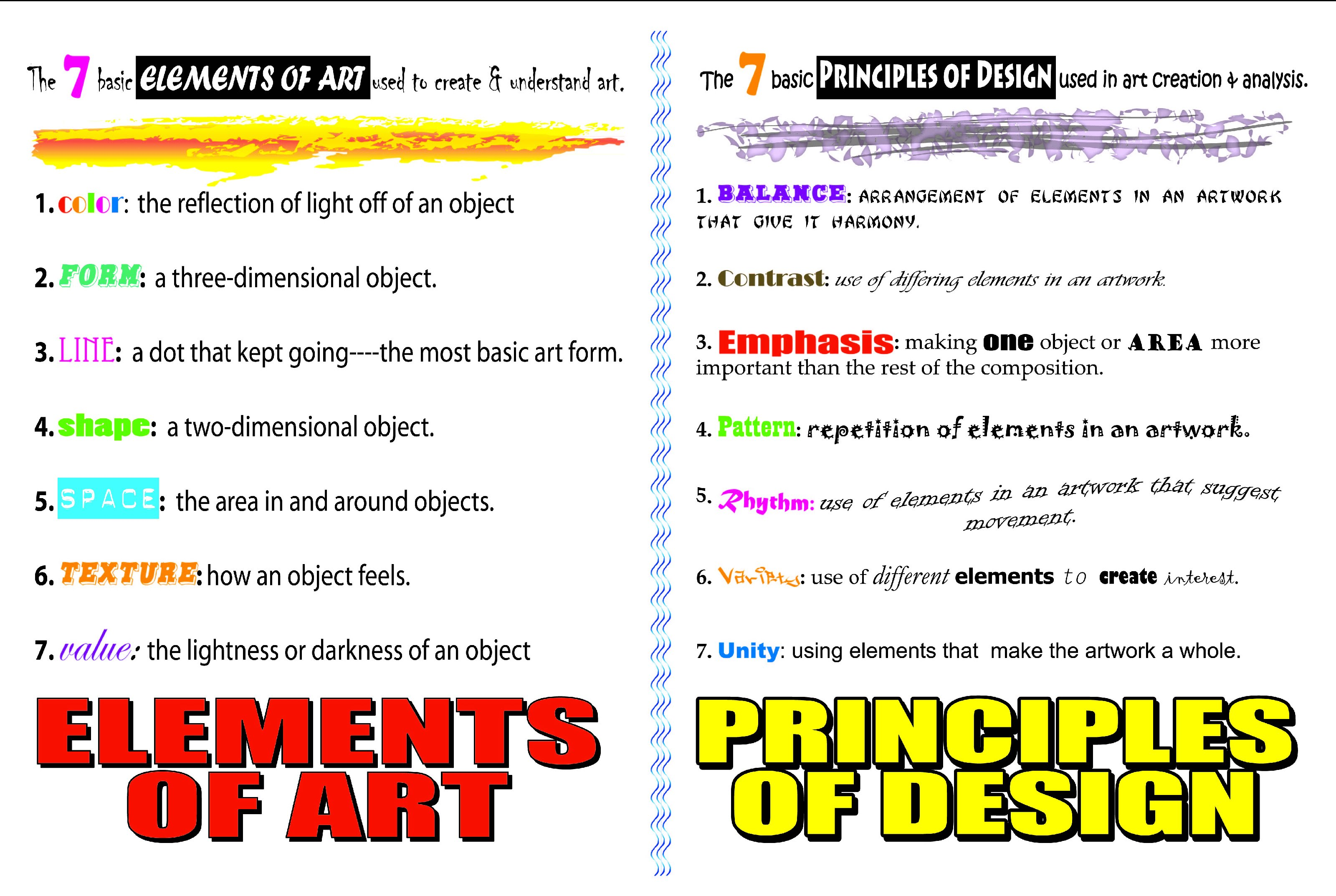 7 Elements Of Art And Their Definitions : Bad apple resources erhs photography class