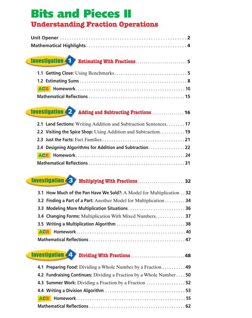 Uncategorized Table Of Contents Worksheet math sites for 6th graders aprita com bits and pieces ii table of contents shms grade math