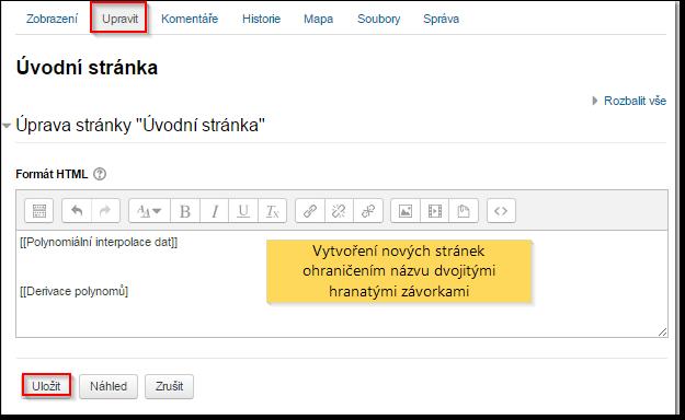 Wiki definice připojení
