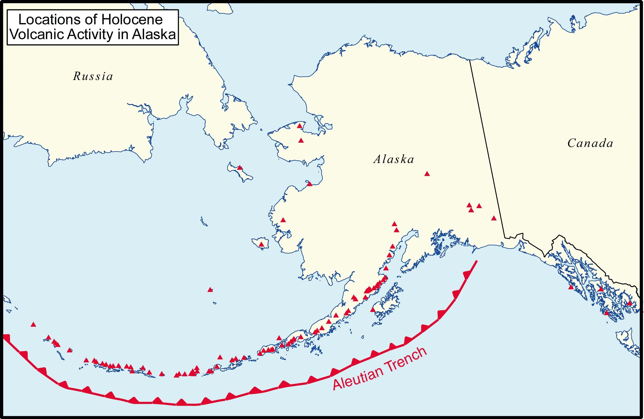 Southcentral Alaska Volcanoes   Alaska Geography