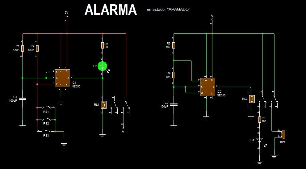 Circuito Oscilador 555 : Oscilador con
