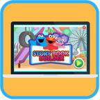http://pbskids.org/sesame/games/story-book-builder/