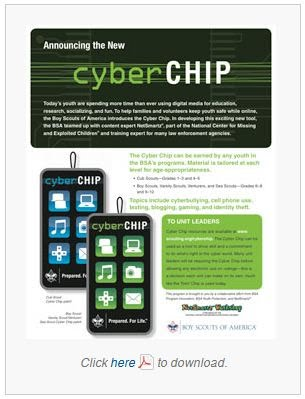 image relating to Bsa Cyber Chip Green Card Printable called Fresh Scouting Software package: Cyber Chip - Residence