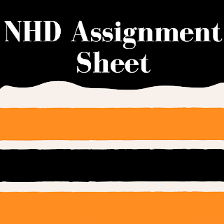 NHD Project Assignment