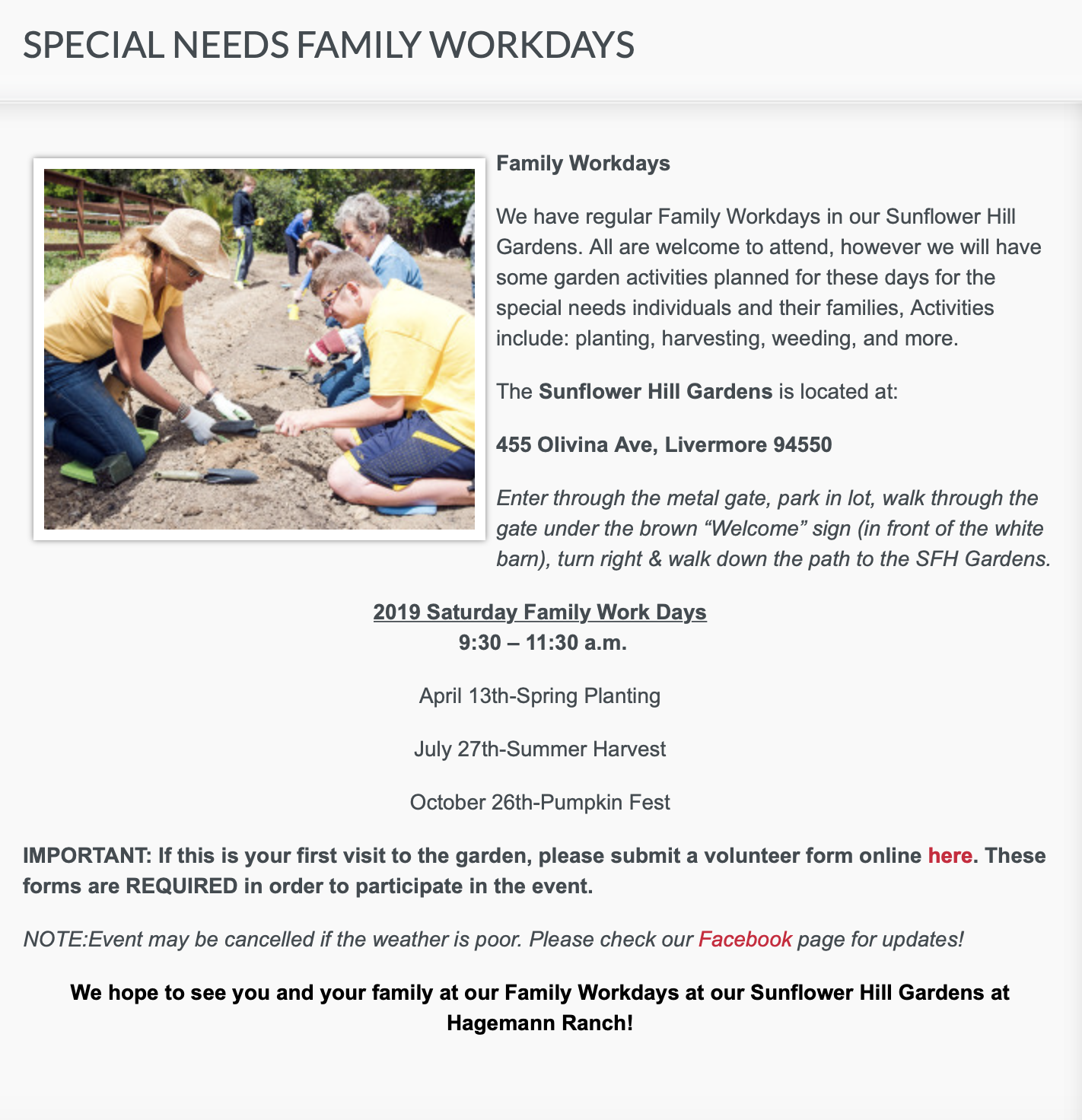https://sunflowerhill.org/sunflower-hill-gardens/special-needs-family-workdays/