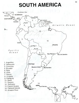 South America Map Song.South America We Are The World