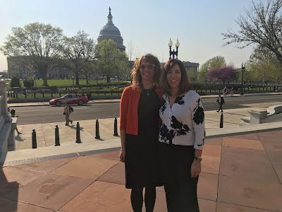 Sara Petrocine, Past Chair, and Karen Kelley, Chair, at the Water Matters Fly-In