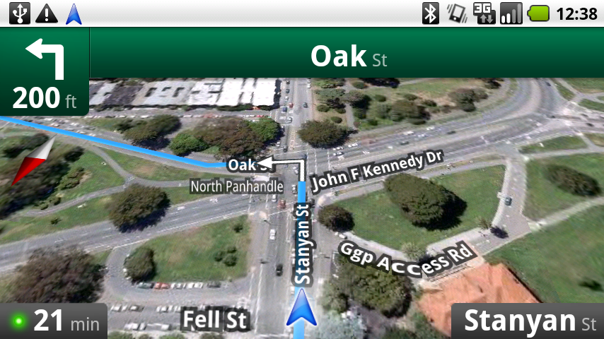 screenshots google maps navigation