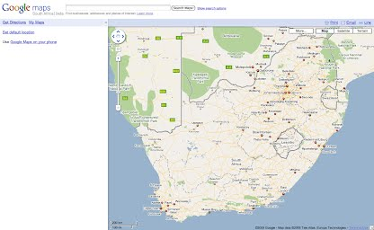 Visuals and Screenshots - Google Maps Launch South Africa