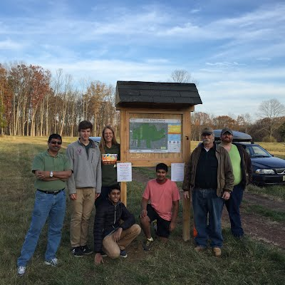 Uttam's Trailhead Kiosk for Cedar Ridge Preserve - Princeton