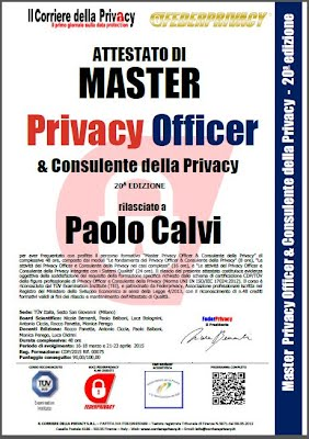 Master Privacy Officer
