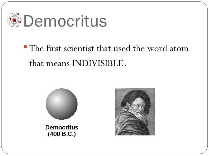 1. What Democritus Thought - Atomic Models