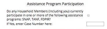 Assistance Program Participation
