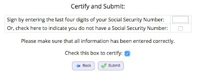 Certify and Submit