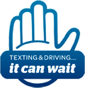 Texting and Driving It Can Wait logo