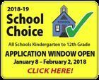 2018-19 School Choice: Application Window Open January 8-February 2, 2018