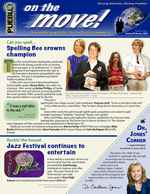 Jan/Feb 2015 On the Move! newsletter cover graphic