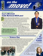 April/May/June On the Move! Newsletter cover graphic