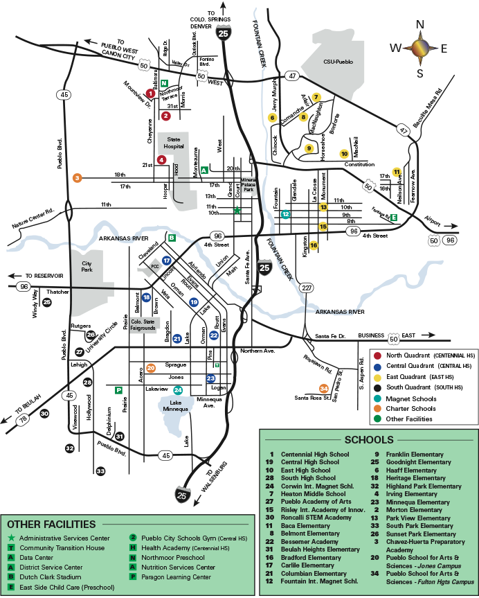 Image of PCS locations map