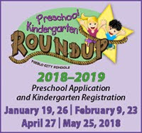 2018–2019 Preschool Application and Kindergarten Registration: January 19, 26 | February 9, 23 April 27 | May 25, 2018
