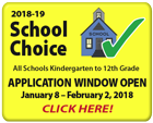 2018-19 School Choice: Application Window Open January 8-February 2, 2018