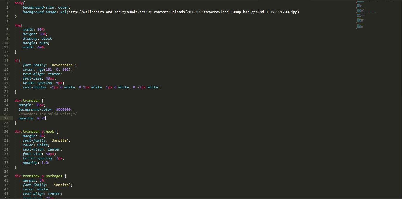 html and css cole u0027s cads