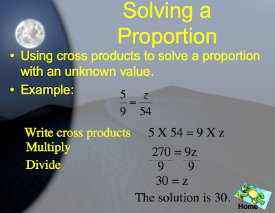 Solving Proportions - Ratio, Proportion & Percent - Archive