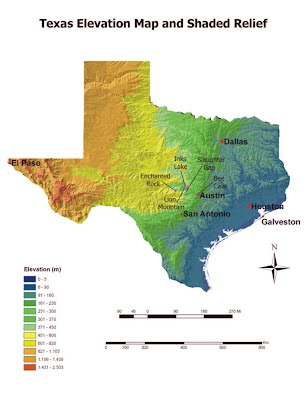 Map Of Texas Landforms.26 Popular Texas Geography Map Bnhspine Com