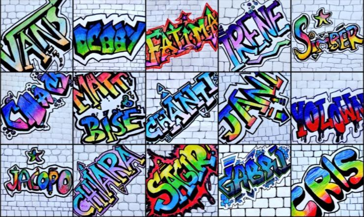 Graffiti Names Vista Verde Middle School Art