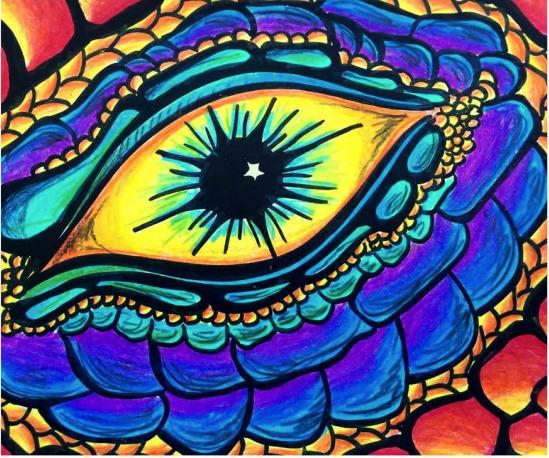 Eye of the Dragon - Vista Verde Middle School Art